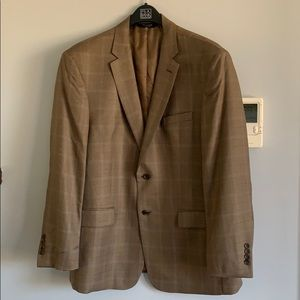 JoS A. Banks brown men's suit jacket, size 44R